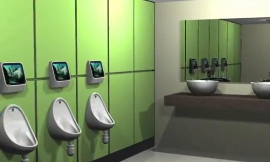 В Лондонском баре в мужском туалете появились видеоигры